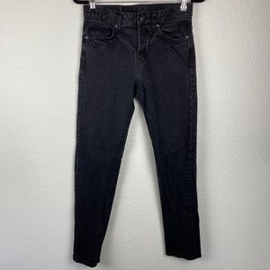 &denim by h&m black slim button fly jeans